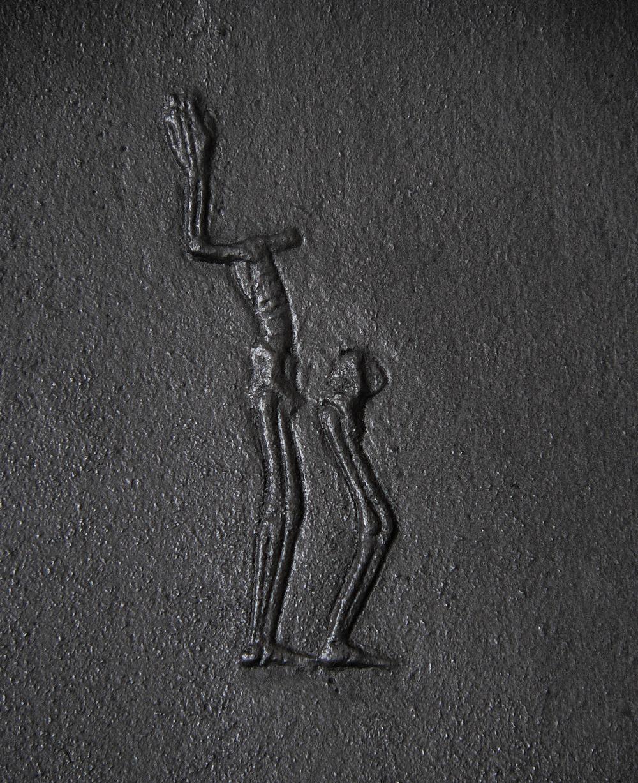 Skeletal relief  (detail), cast-iron,2011-2 @Monika Horčicová