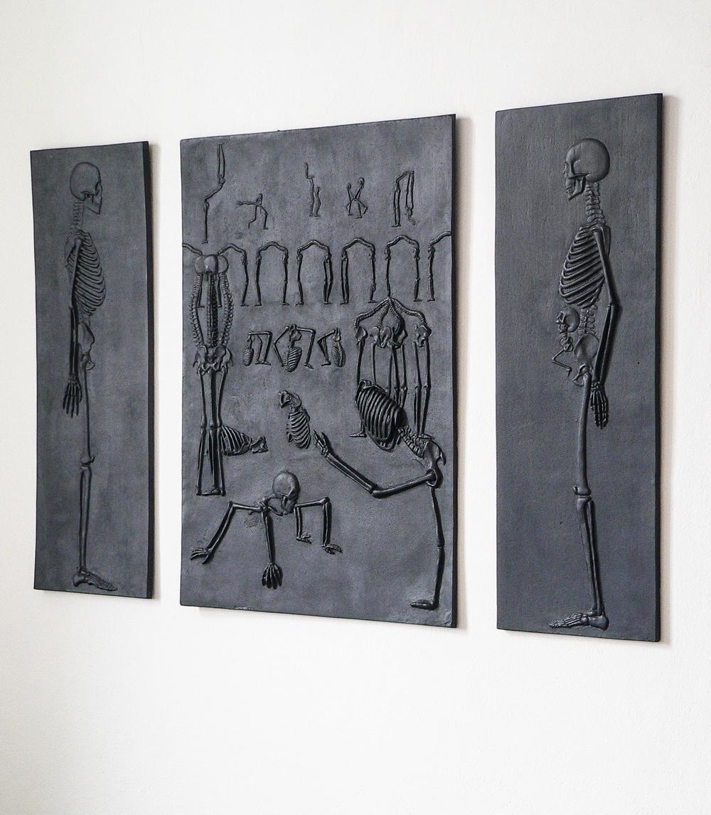 Skeletal relief , cast-iron,2011-3 @Monika Horčicová