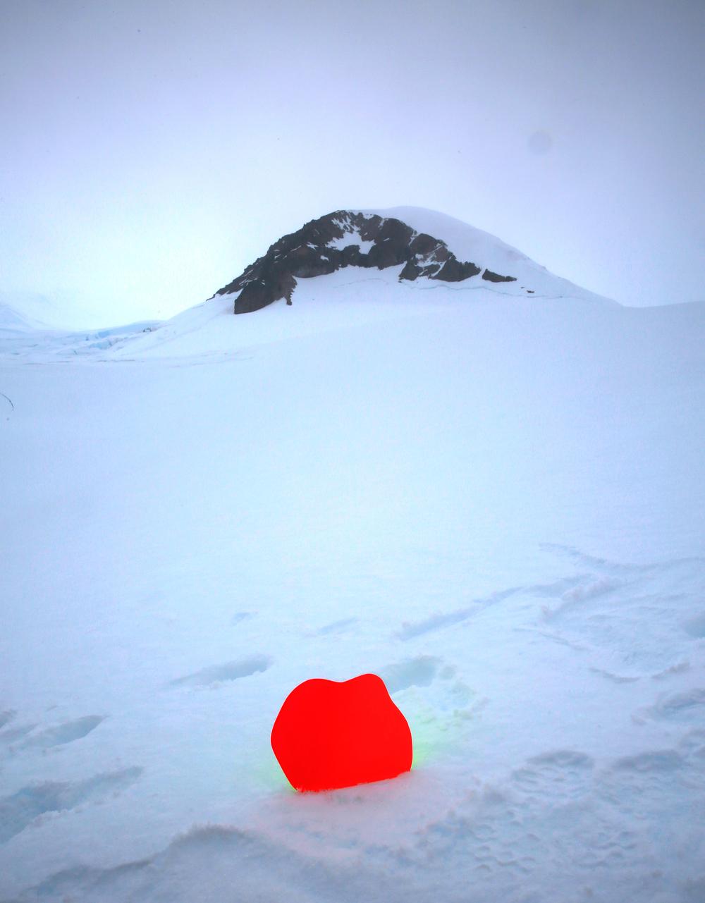 Antartic Series , Fiberglass, Epoxy Resin, Enamel, 2015 @Devra Freelander