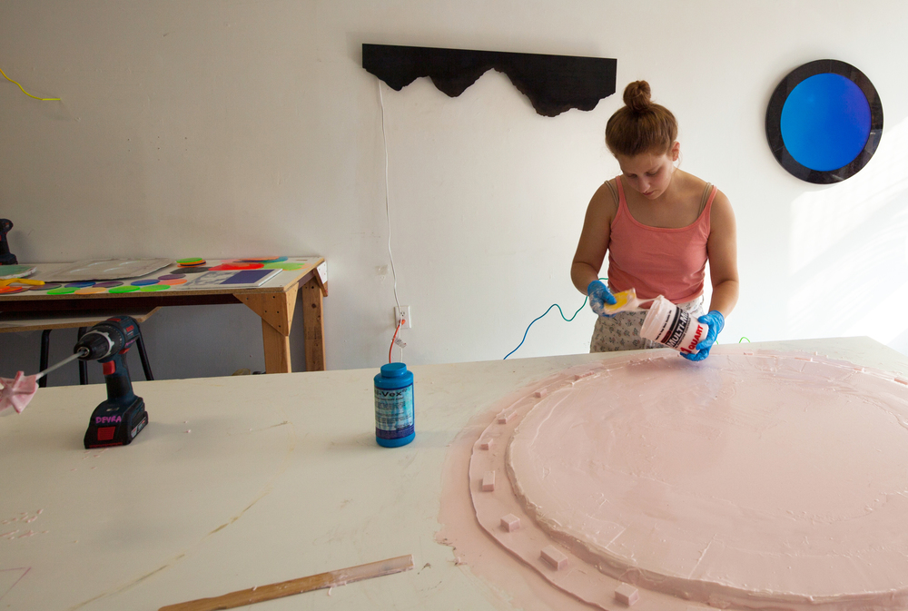 Devra Freelander in her studio / Rhode Island, USA