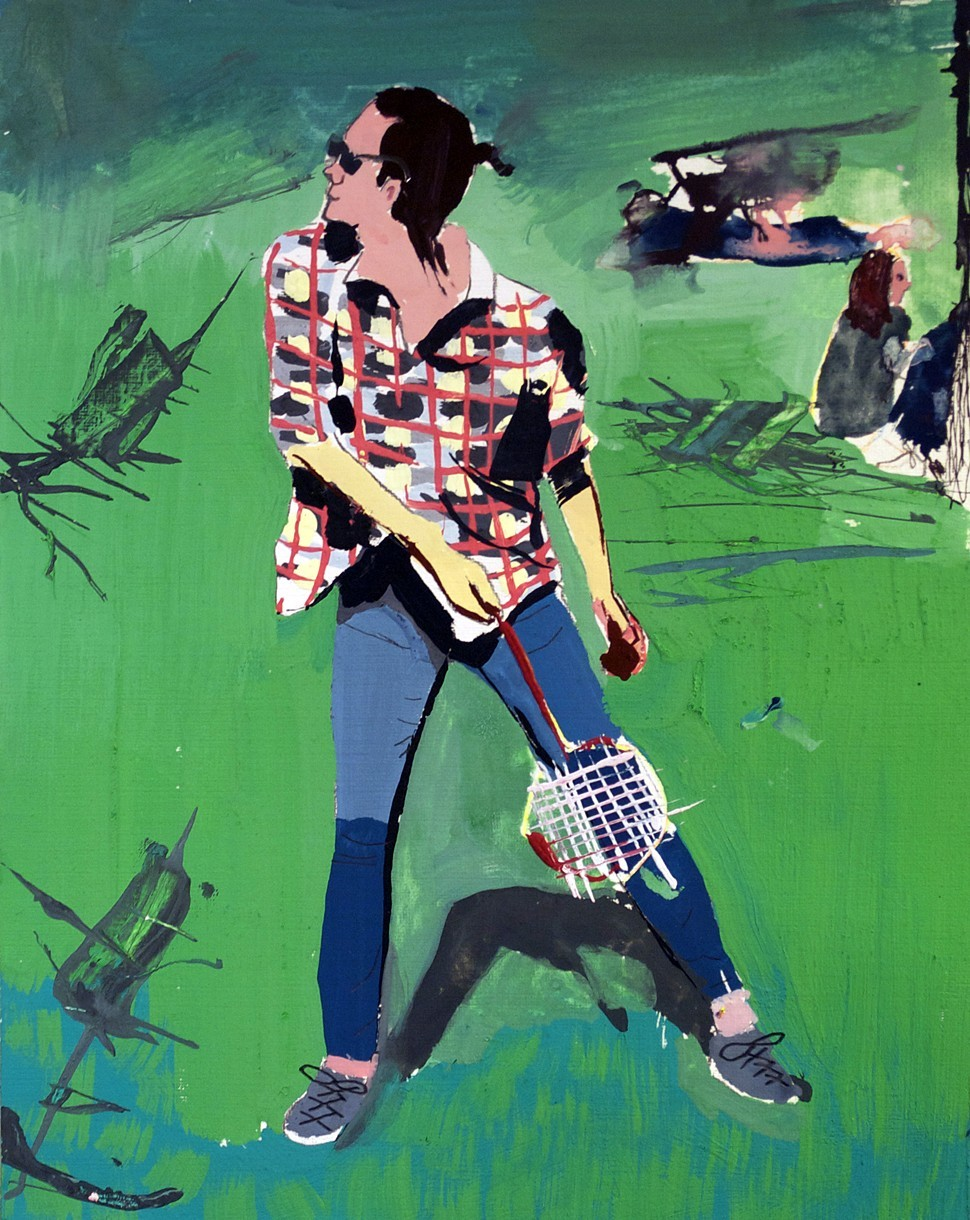 Racquet Sports,  gouache on paper, 2014 @Brandon Elijah Johnson