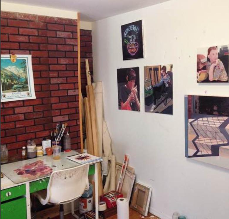 His studio