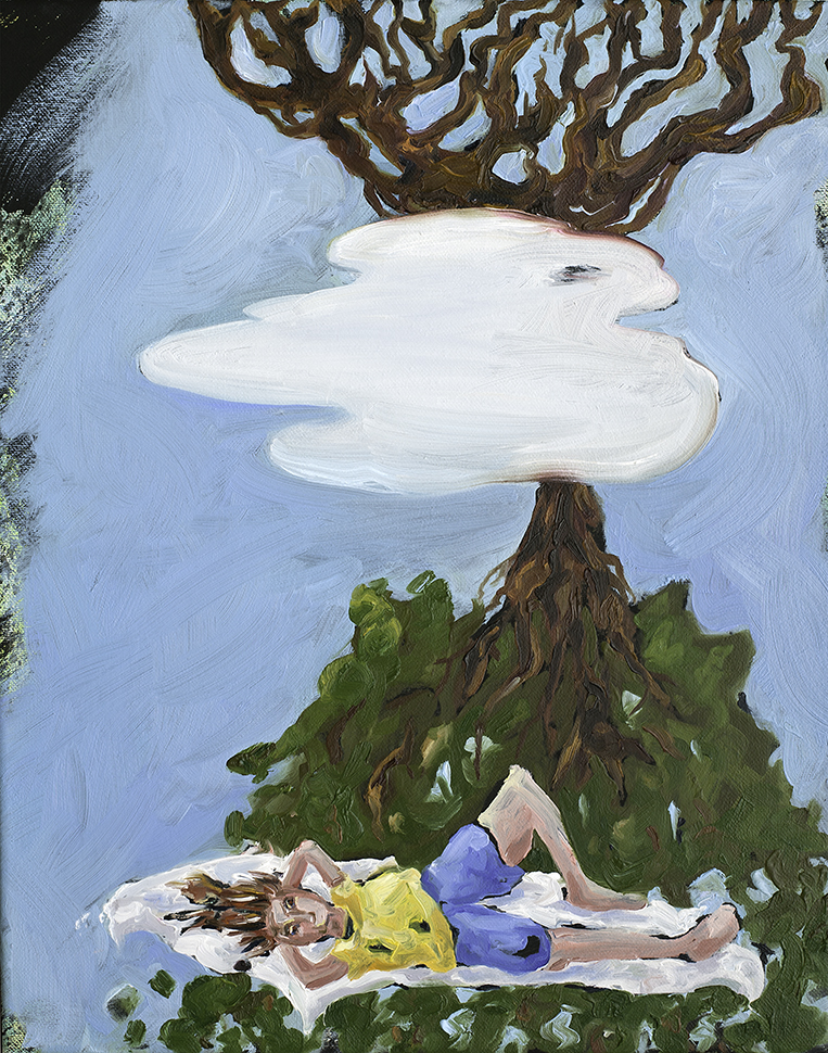 Daydreaming , oil and latex on canvas, 2015 @Joe Carrozzo