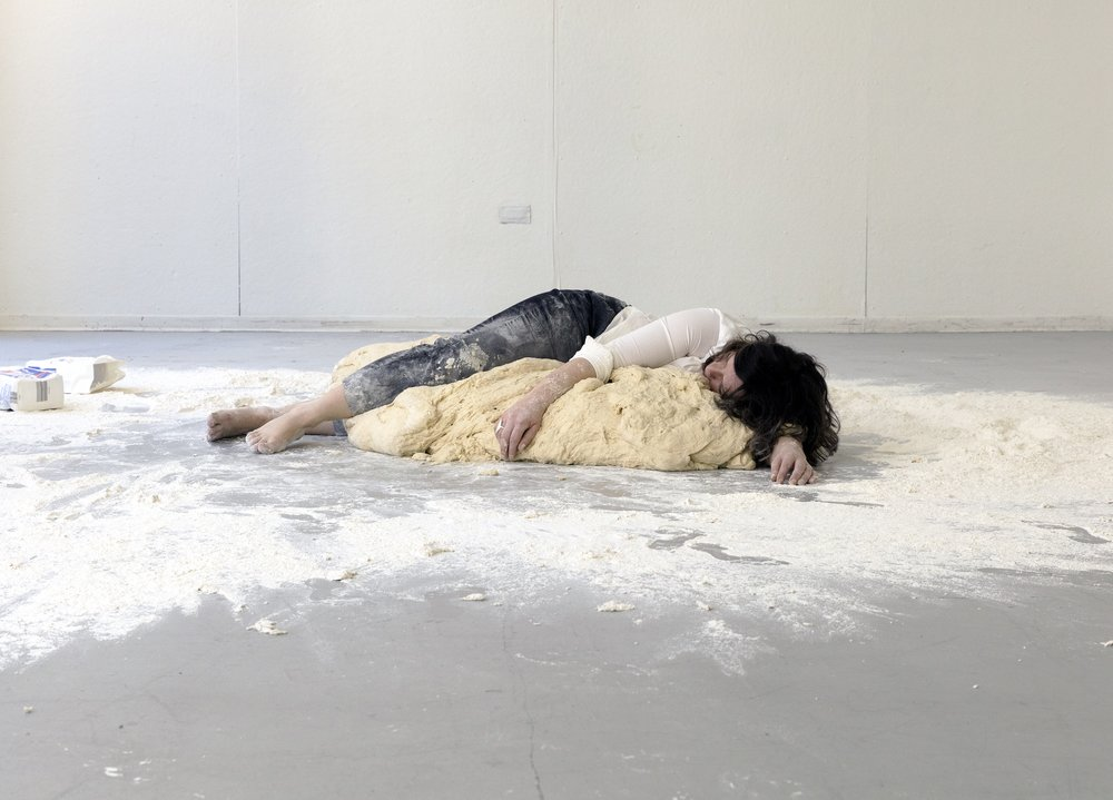 Untitled Dough Project (Body Time-Lapse), 2015