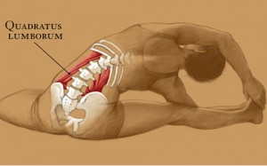 Quadratus lumborum stretch.