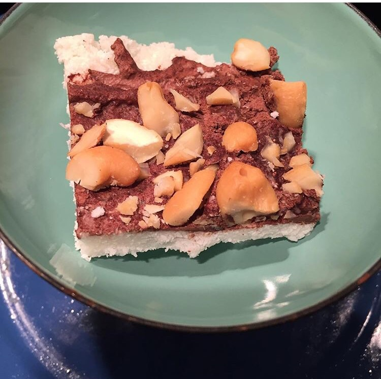 DIY Candy Bar from Fit Girls Guide Cookbook (coconut, dark chocolate, nuts)