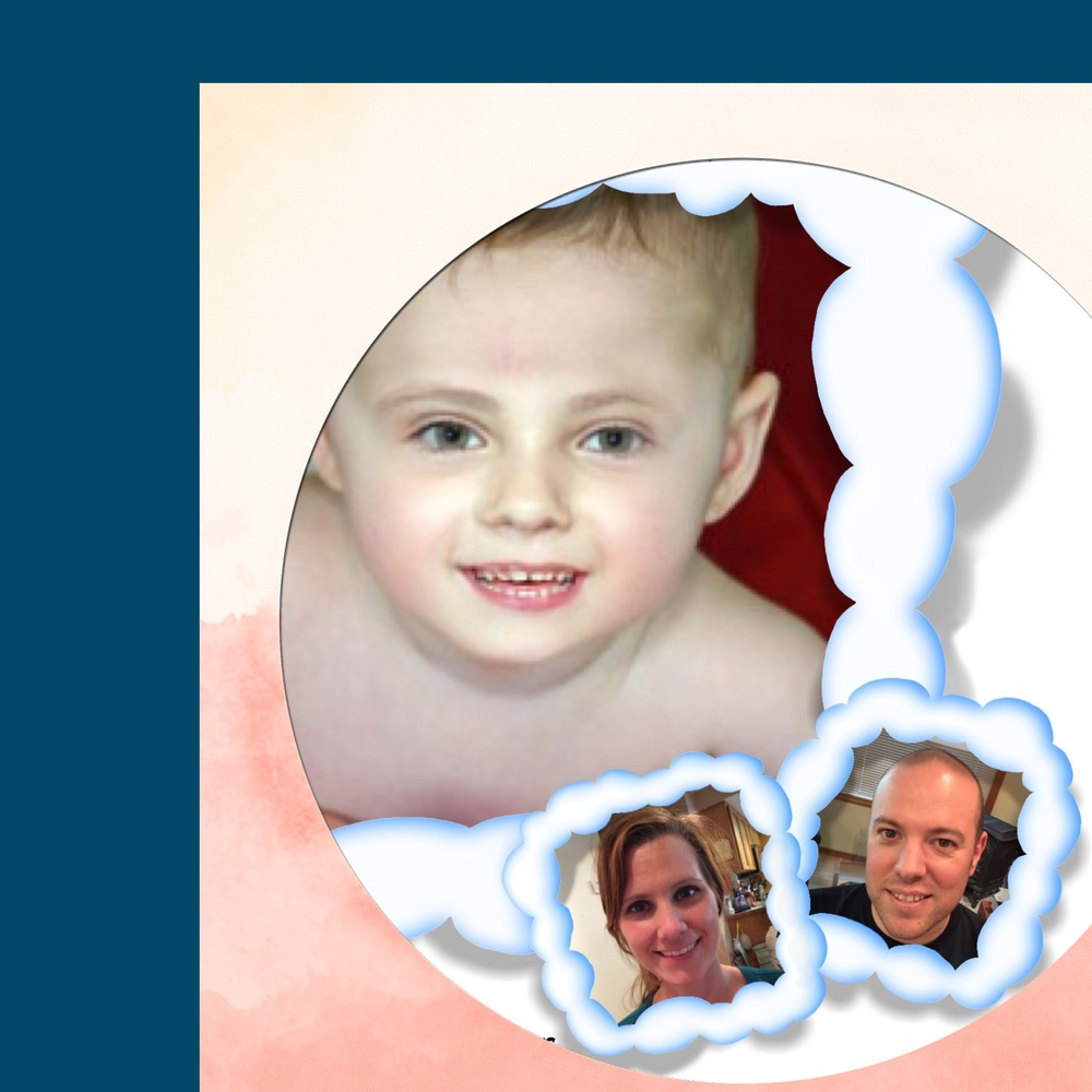 According to an app, this is what our baby would look like.