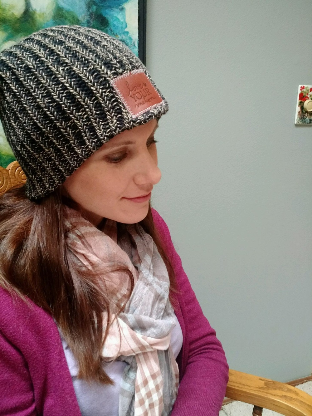 Feeling positively serene in my new hat. 42938d1516f