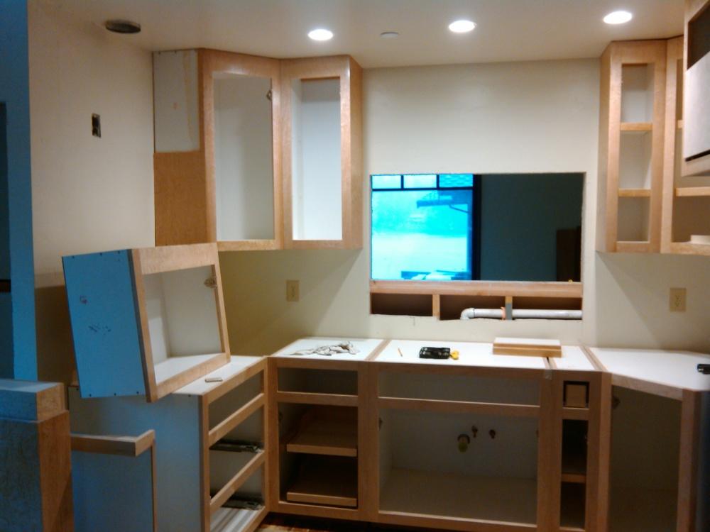 Installing after finishing custom cabinets- Key Peninsula