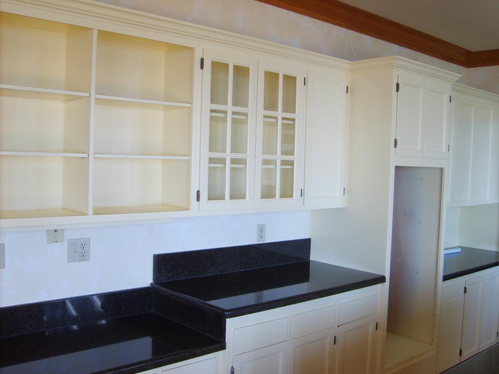 Interior gig harbor cabinets refinished- after