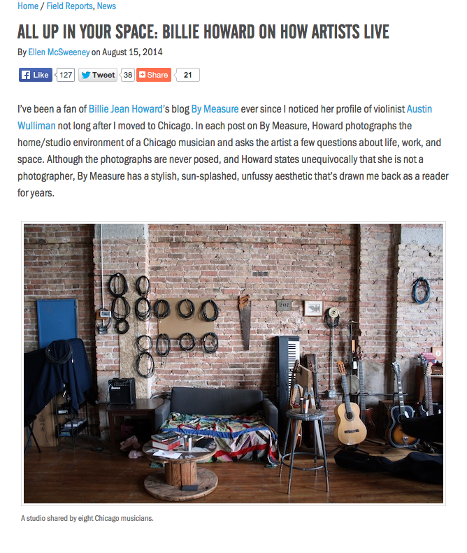 NewMusicBox interview feature, 2015