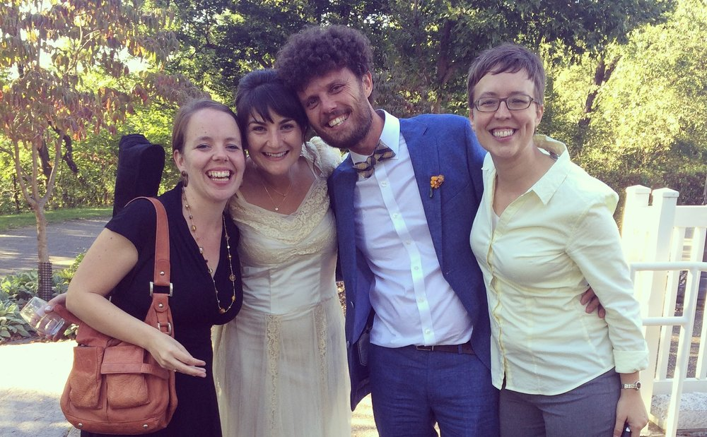 Me, my newly-married friends Liza and Gil, and my wife after a joyful ceremony!