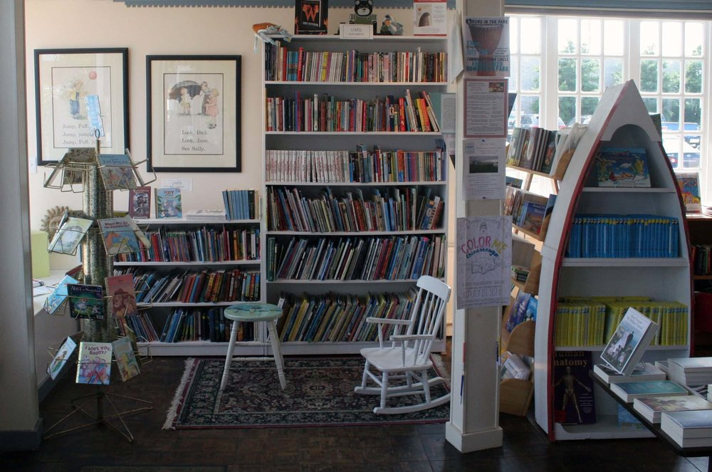 The wonderful children's section of Sundial Books in Chincoteague, VA.