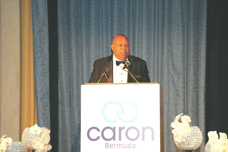 Phillip Butterfield received the award in 2012 for his support of Caron Bermuda through his role as CEO of Bank of Bermuda and HSBC.