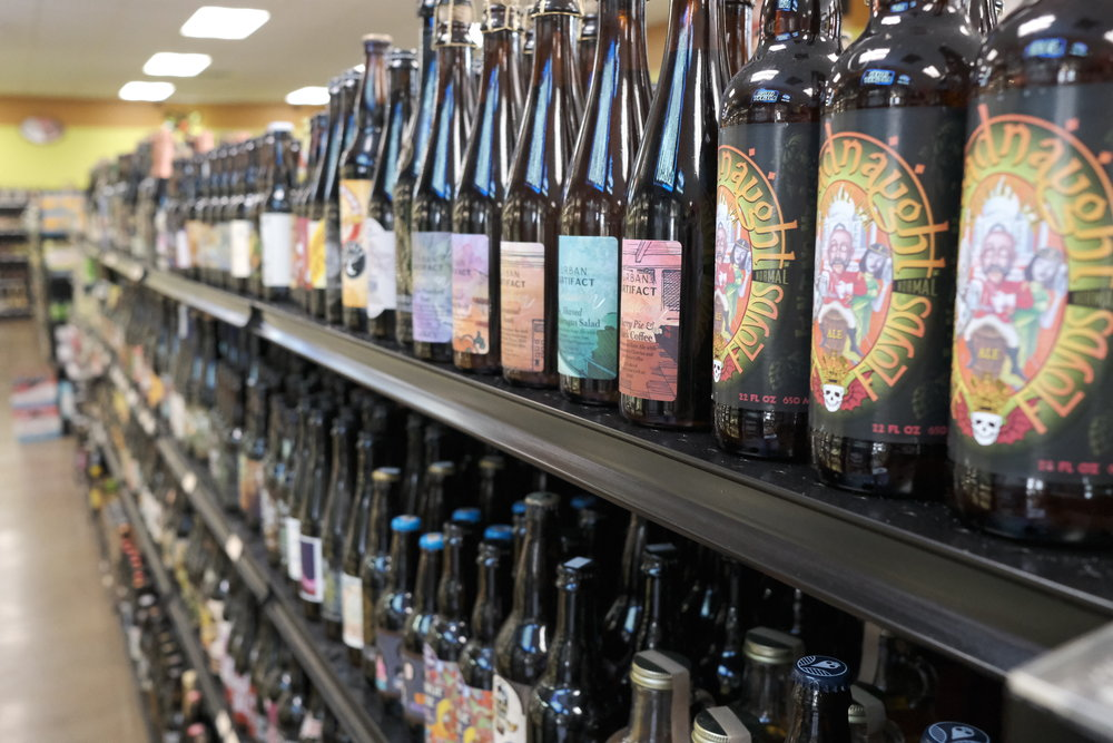 We carry a large selection of single-format craft beer, from recent releases to hidden gems from the past.