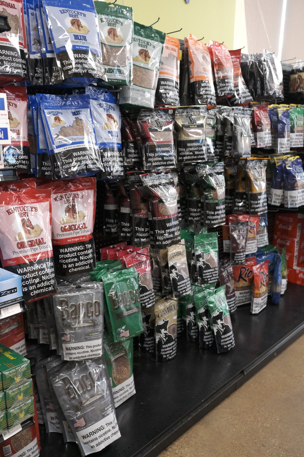 Stop in for your self-rolling tobacco needs! We have bagged tobaccos, filters, tubes, rollers and papers, and if you need anything else - just ask!