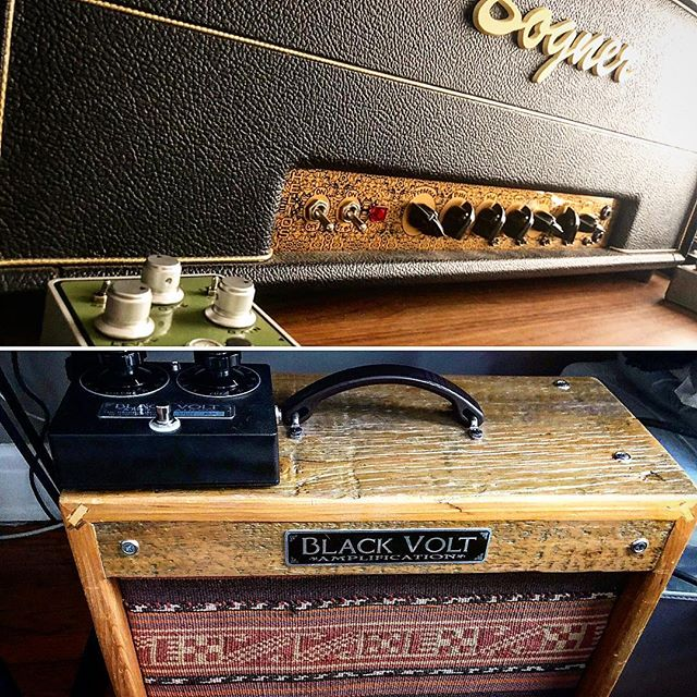 For the gear nerds out there, these are the 2 amps that @kemble_walters has been using on the new record. Both owned by insanely talented and dedicated craftsman, I HIGHLY encourage you guys to check these out: @bogner_amps & @blackvoltamplification // thank you guys so much for these incredible loaners (and the fuzzes!), I swear I'll get em back to ya soon!! 😘😘😘 #bogner #blackvoltamplification #handwired #amps #guitar #riffstation #partyvibes