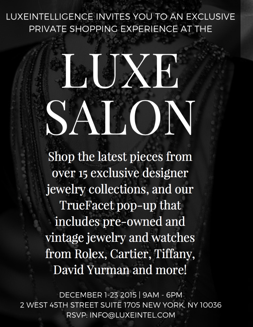 LUXE Salon Sale