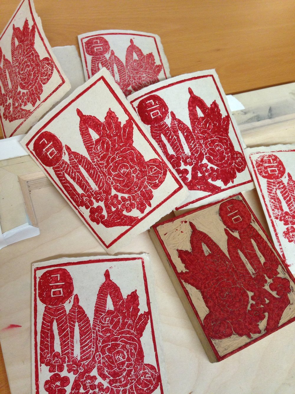 Linoleum Block Prints by James Keum  Half of all sales by James Keum will go towards  Together We Form A Strong Circle