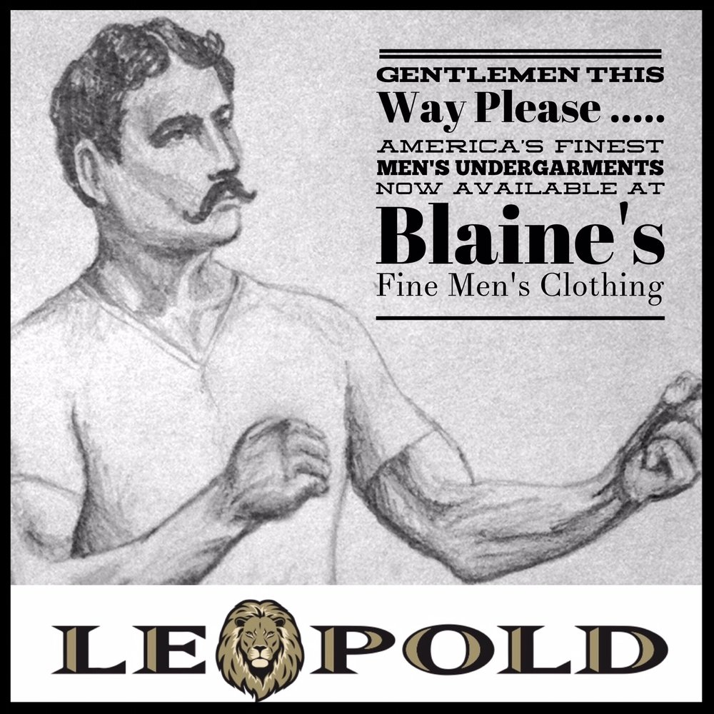 New At Blaine's: Leopold Undergarments