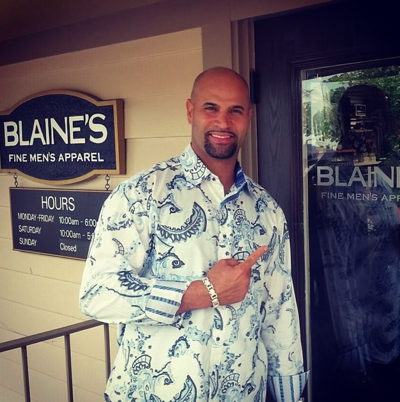 Look who shops at Blaine's when he visits Cincinnati. 3x MVP Albert Pujols from the LA Angels. Future Hall of Famer with over 3000 hits and 600 home runs.