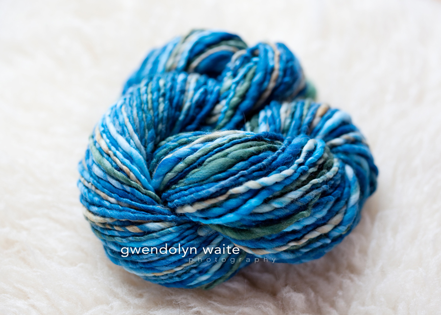 Hand spun yarn photographed with natural light