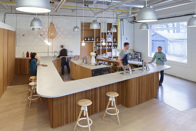 Pilot Coffee Roasters by   Williamson Chong   was featured in the June issue of   Azure
