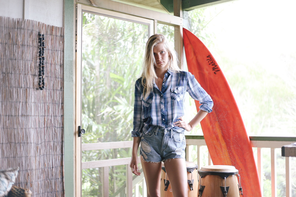 flannel // by RAILS  high waisted denim // by Lovers & Friends