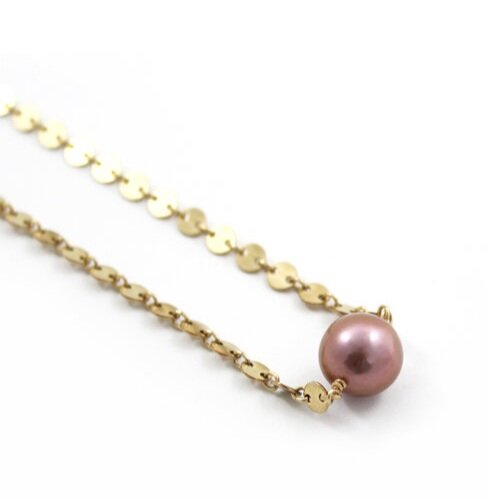 37c1dcead FREE TO BE ME JEWELRY | Kiki Necklace w/ Edison Pearl - Rose Gold Filled