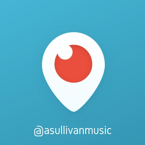 """I perform several times per week on Periscope! Click on the image above to go to my channel and be sure to hit that """"follow"""" button!"""
