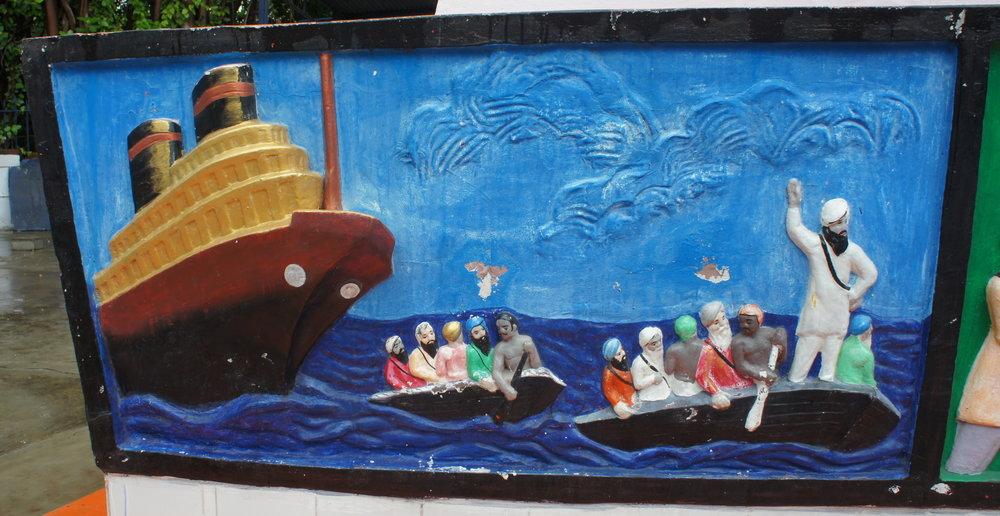 Close up of Komagata Maru memorial at Budge Budge