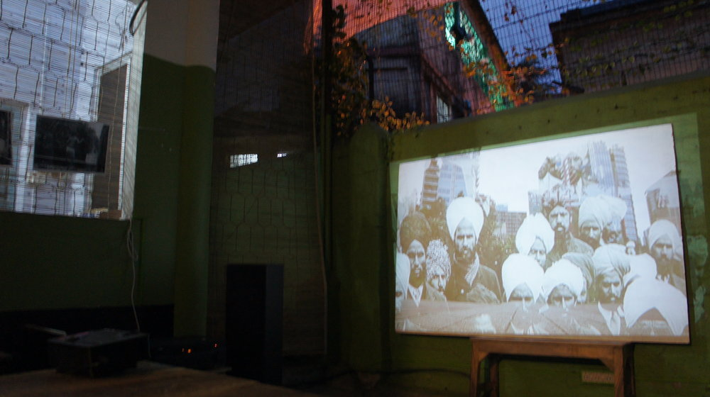 Audio visual installation for Checkpoint Hoogly at Cafe Toto in Calcutta