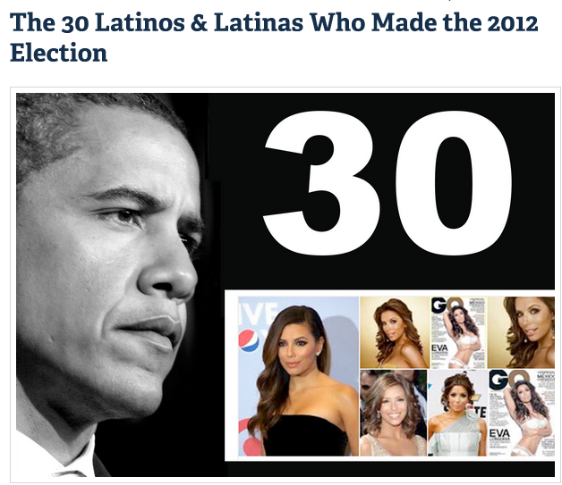 Politic365 Named one of the 30 Latinos who made the 2012 Election