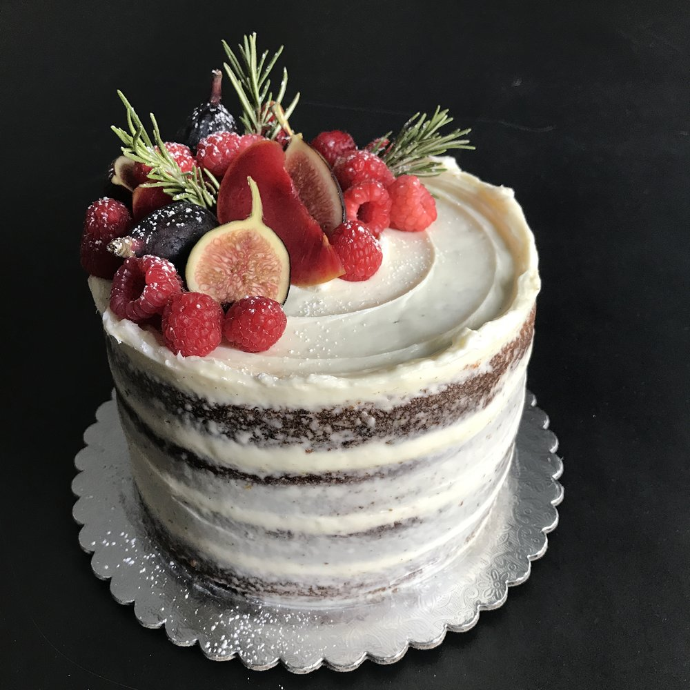 Harvest Carrot - carrot cake, meringue buttercream, seasonal fruits