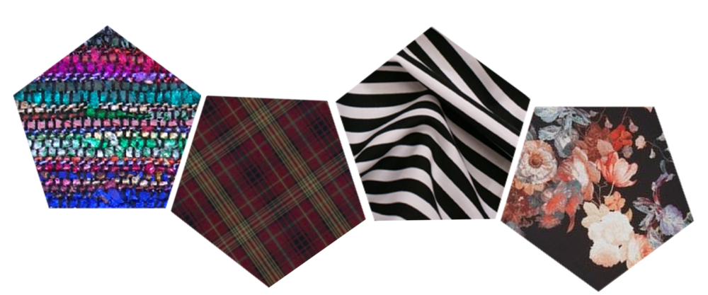 Fall colors and patterns abound!  Kensington Tartan by Ralph Lauren; other swatches sourced from  Kathmandu Connection ,  Gallery Hip , and  Patternatic . Image created by O. Okhade.