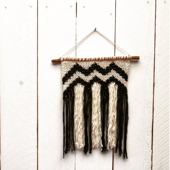 Handmade Crochet Wall Hanging by Kate Dohn of The Good Shnit. Find us both at the 41st Annual Sonora Christmas Craft & Music Festival Thanksgiving weekend!