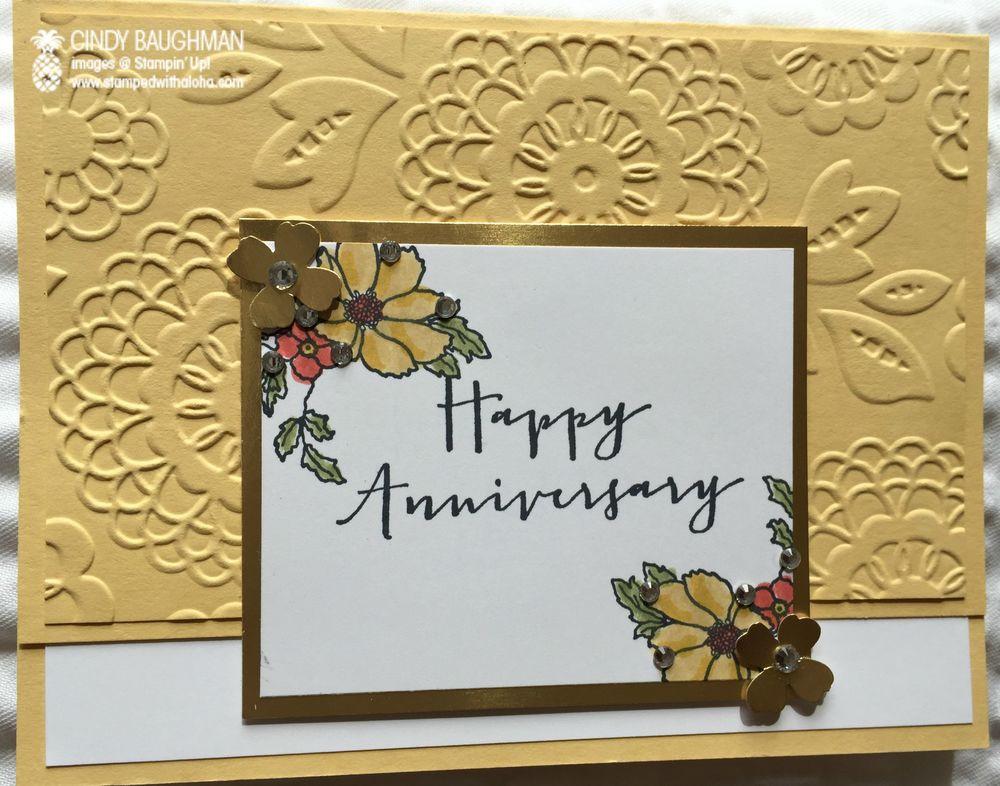 Anniversary wishes u stamped with aloha