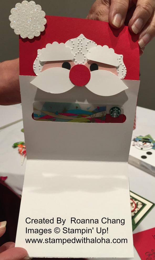 Santa Gift Card Holder (inside)