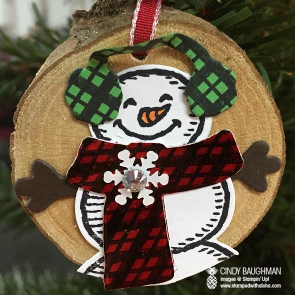 Lumberjack Snowman Ornament