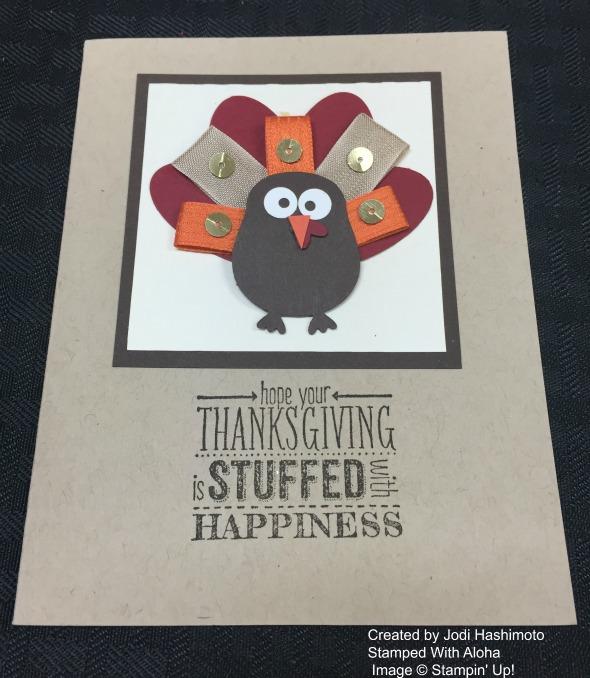 Jodi's punch art turkey card