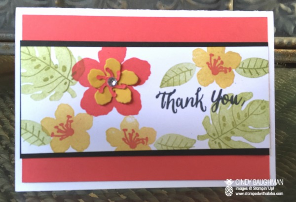 Botanicals Thank You Card