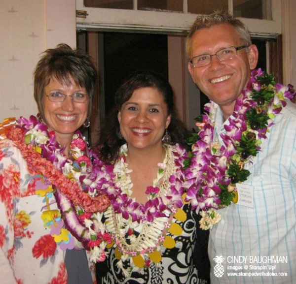 Shelli and Sterling with Cindy at a Night of Aloha