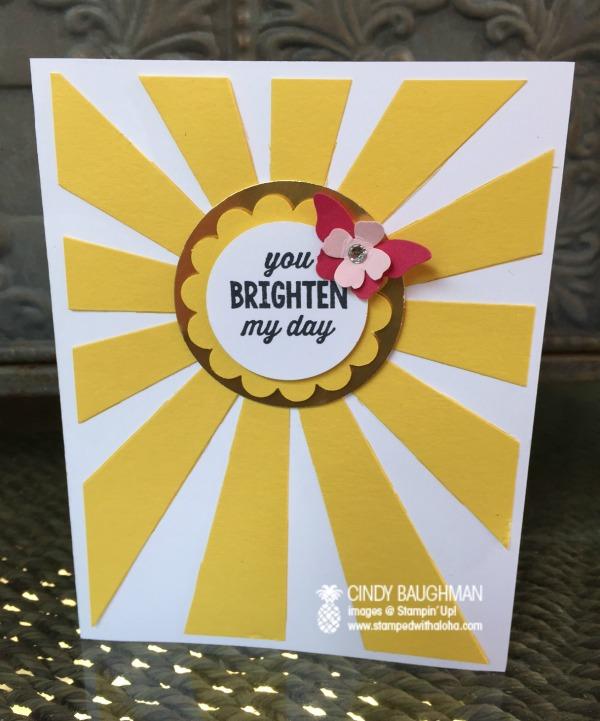 Sunburst Card - www.stampedwithaloha.com