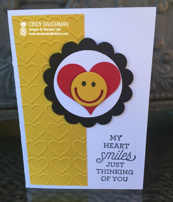 Smiling Heart Card - www.stampedwithaloha.com