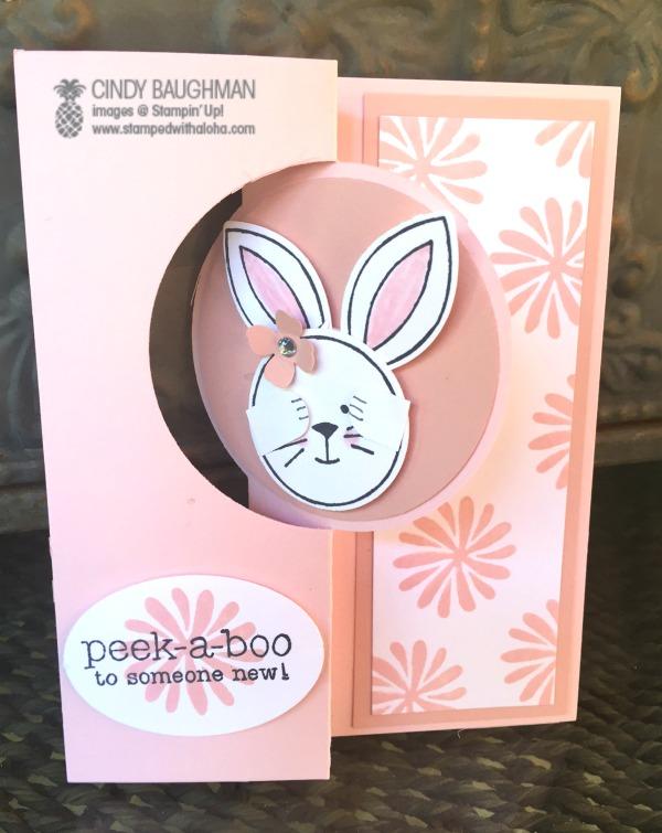 Peek-A-Boo Bunny - www.stampedwithaloha.com