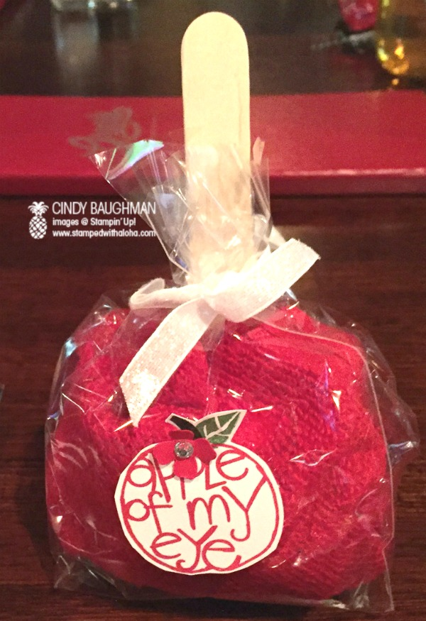 Candy Apple Favor - www.stampedwithaloha.com