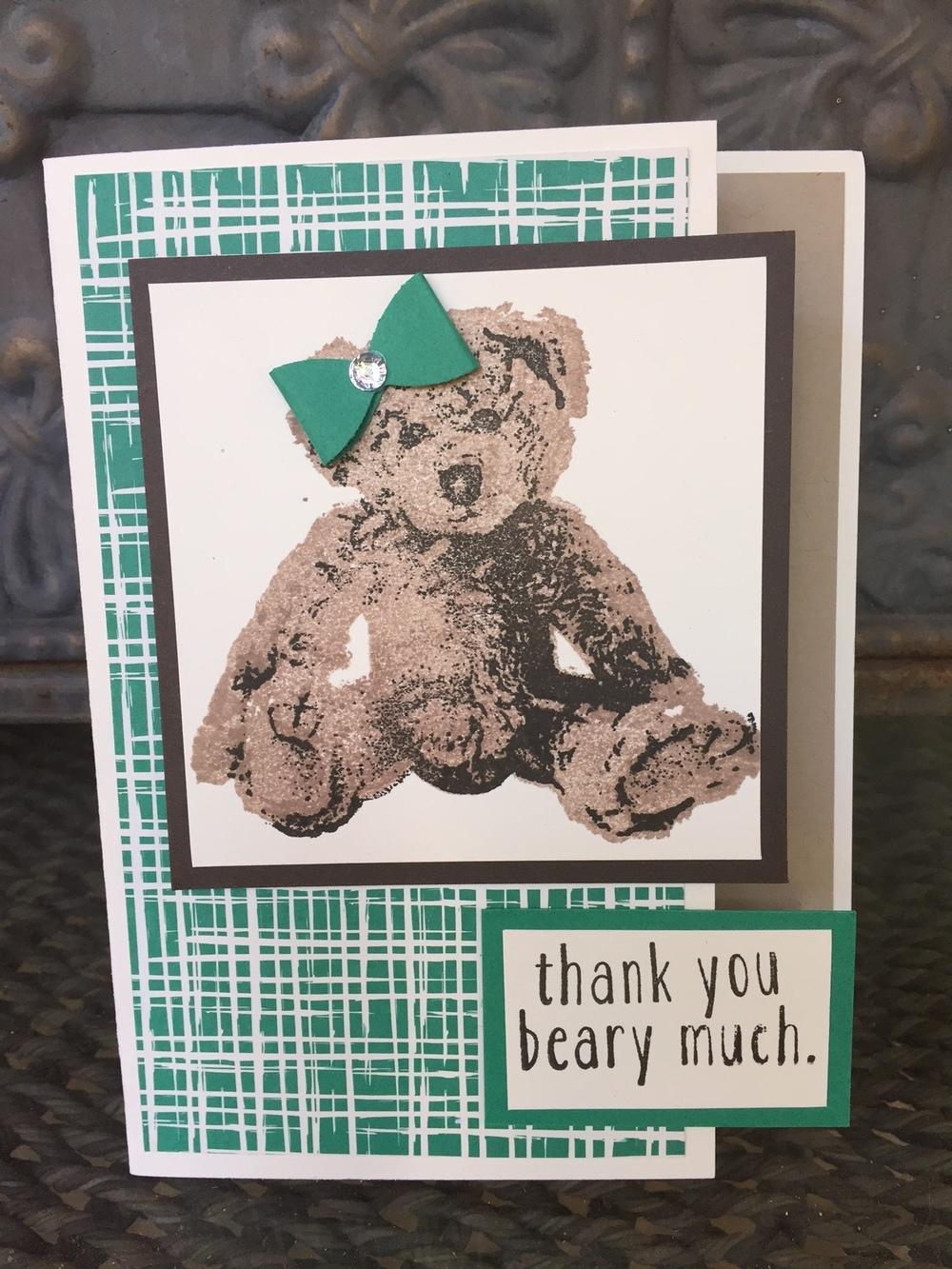 Baby Bear Card - www.stampedwithaloha.com