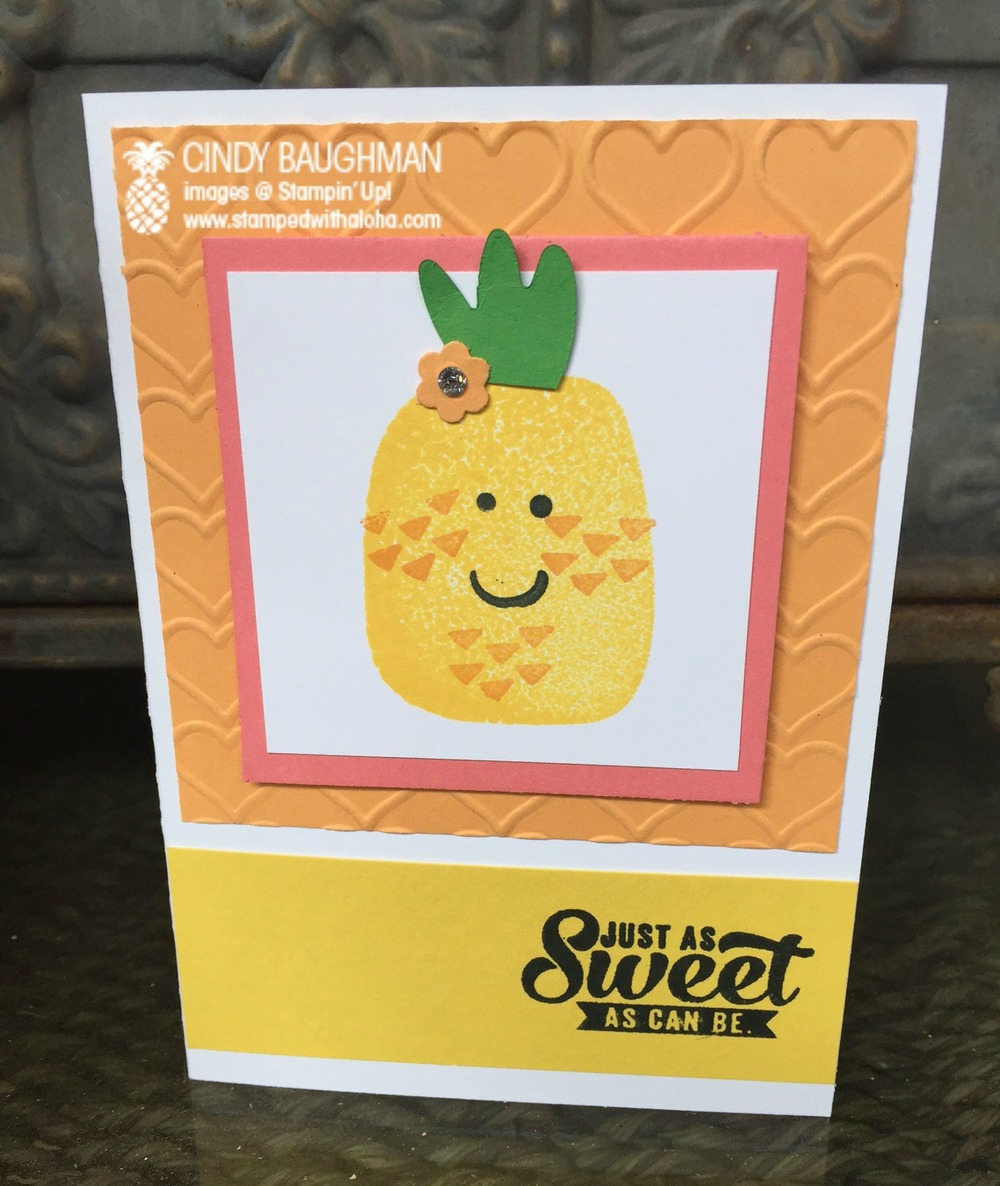 Playful Pals Pineapple Card - www.stampedwithaloha.com