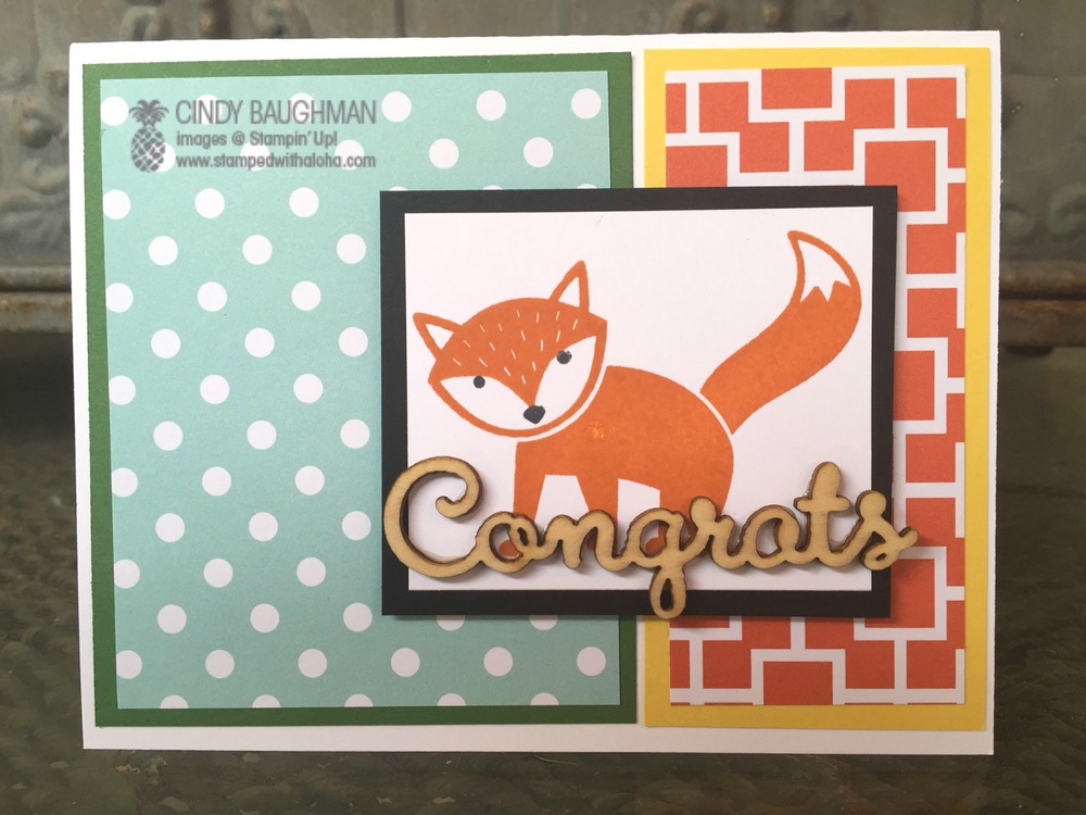 Foxy Friends Recognition Card