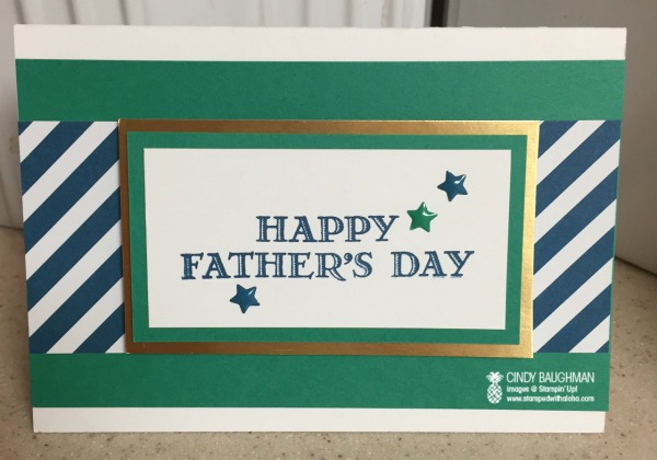 Simple Father's Day Card - www.stampedwithaloha.com